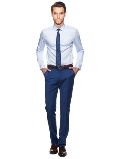 Altınyıldız Classics Slim Fit Uzun Kollu Klasik Gömlek Mavi
